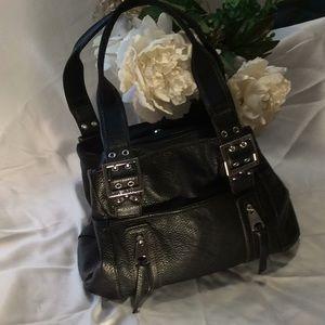 Tyler Rodman faux leather black multi pocket purse